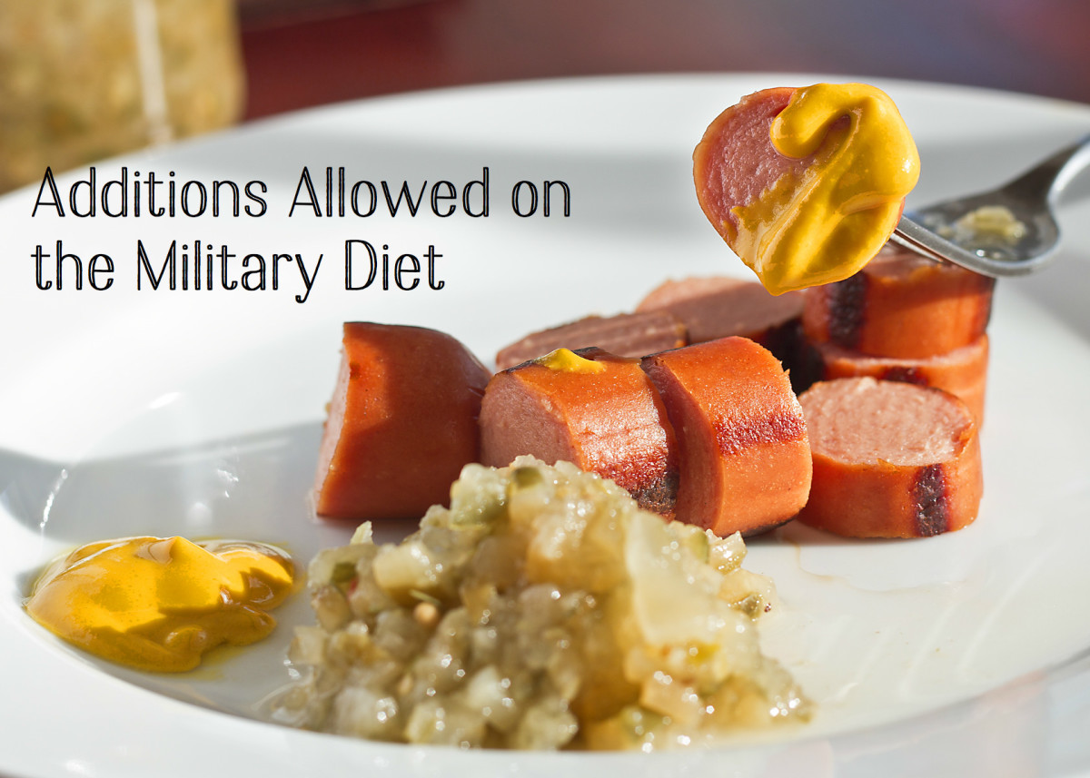 Feel free to add mustard, relish, and the other additions listed below to your meals.