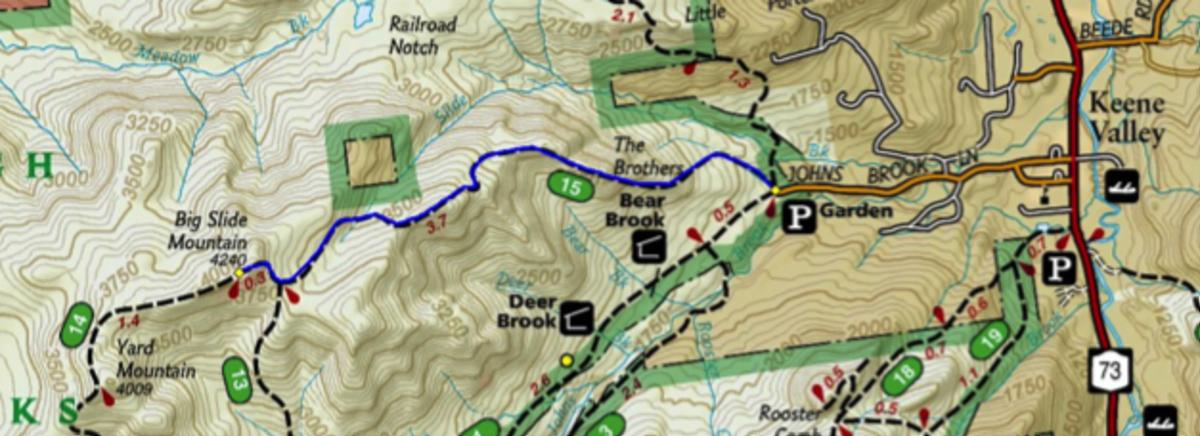 Map to Big Slide