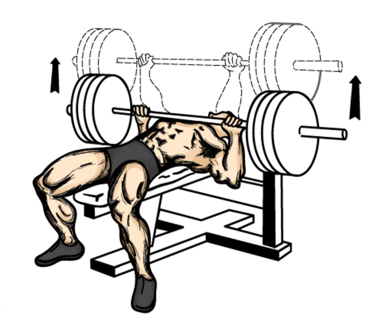 Proper bench press technique.