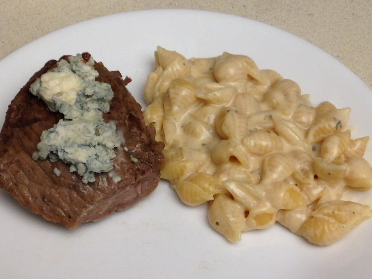 Sirloin Steak with Blue Cheese- Beef is a good source of Alpha Lipoic Acid