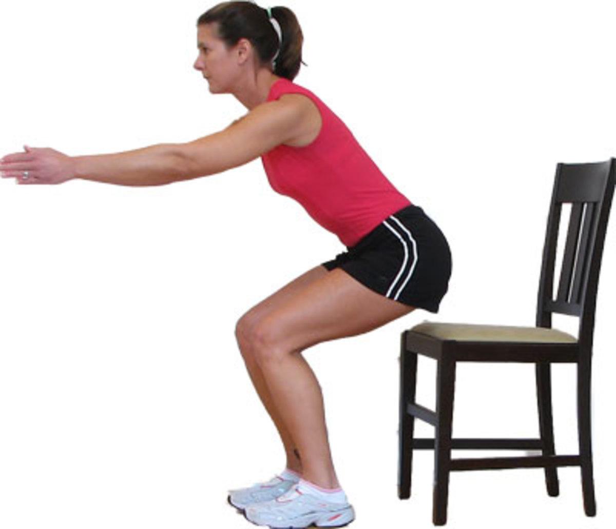 Chair squat