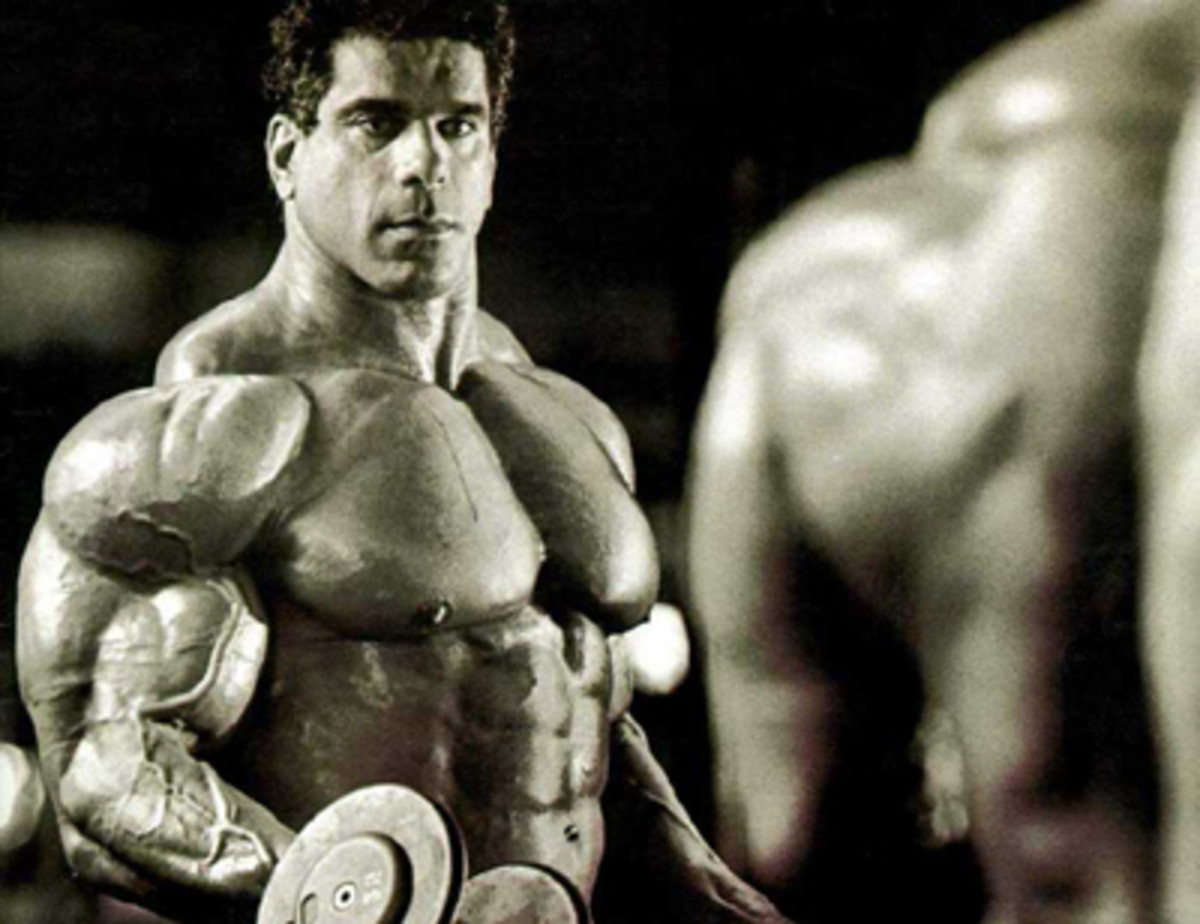 Look at the traps on Lou Ferrigno. It's hard to get past those massive arms, but his traps are huge.