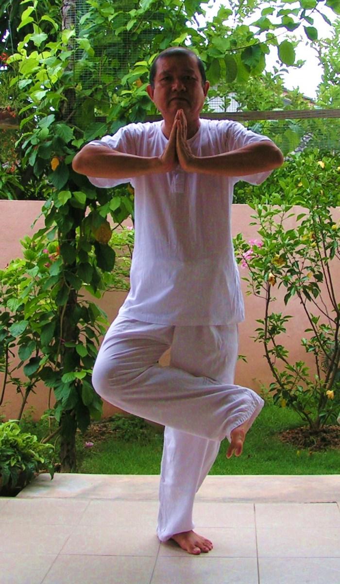 Me doing the qigong stance.