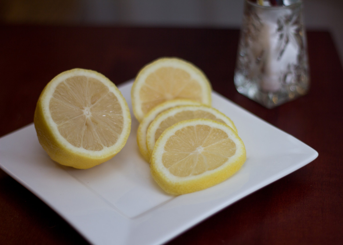 A little lemon juice and salt does wonders to the flavour of fresh, raw veggies.