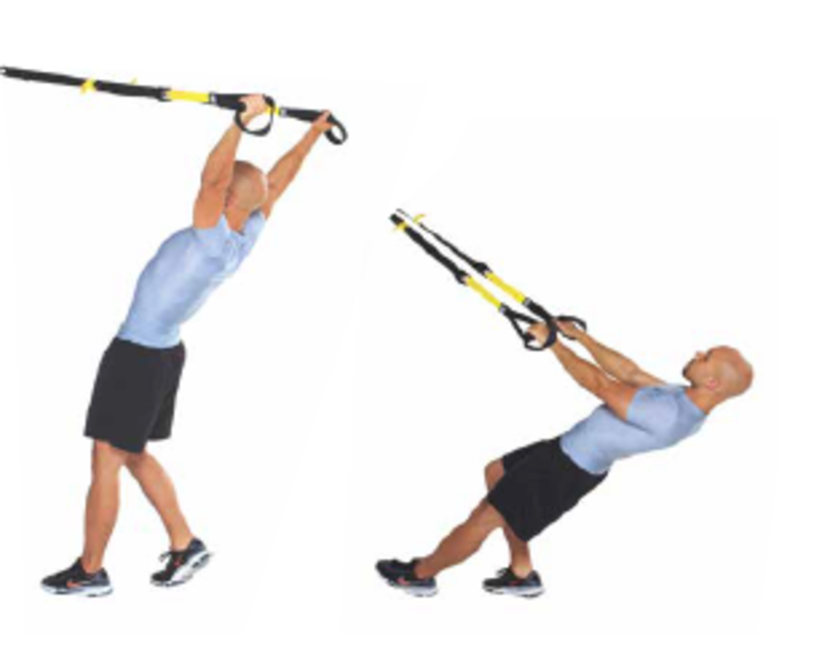 The TRX high pull, a great shoulder and upper back exercise.