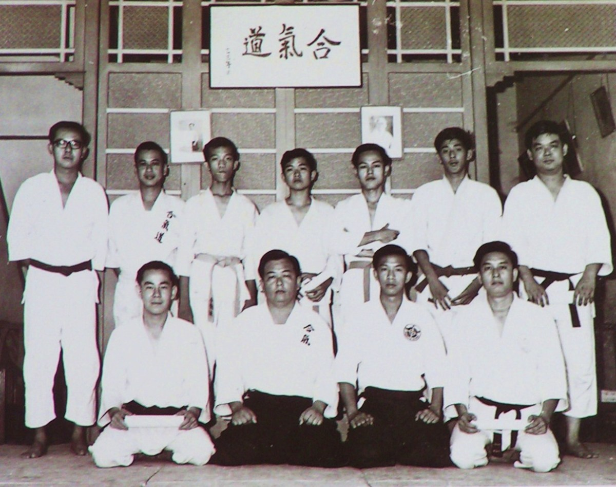 Me as a young boy in Aikido class (center standing).