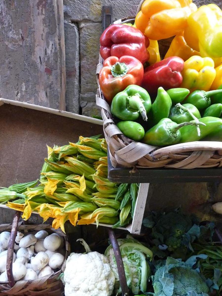 Healthy seasonal vegetables.