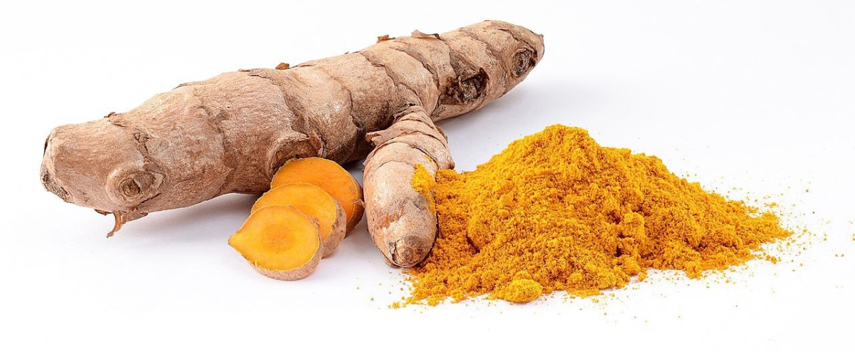 Turmeric root is ground to make a spice.