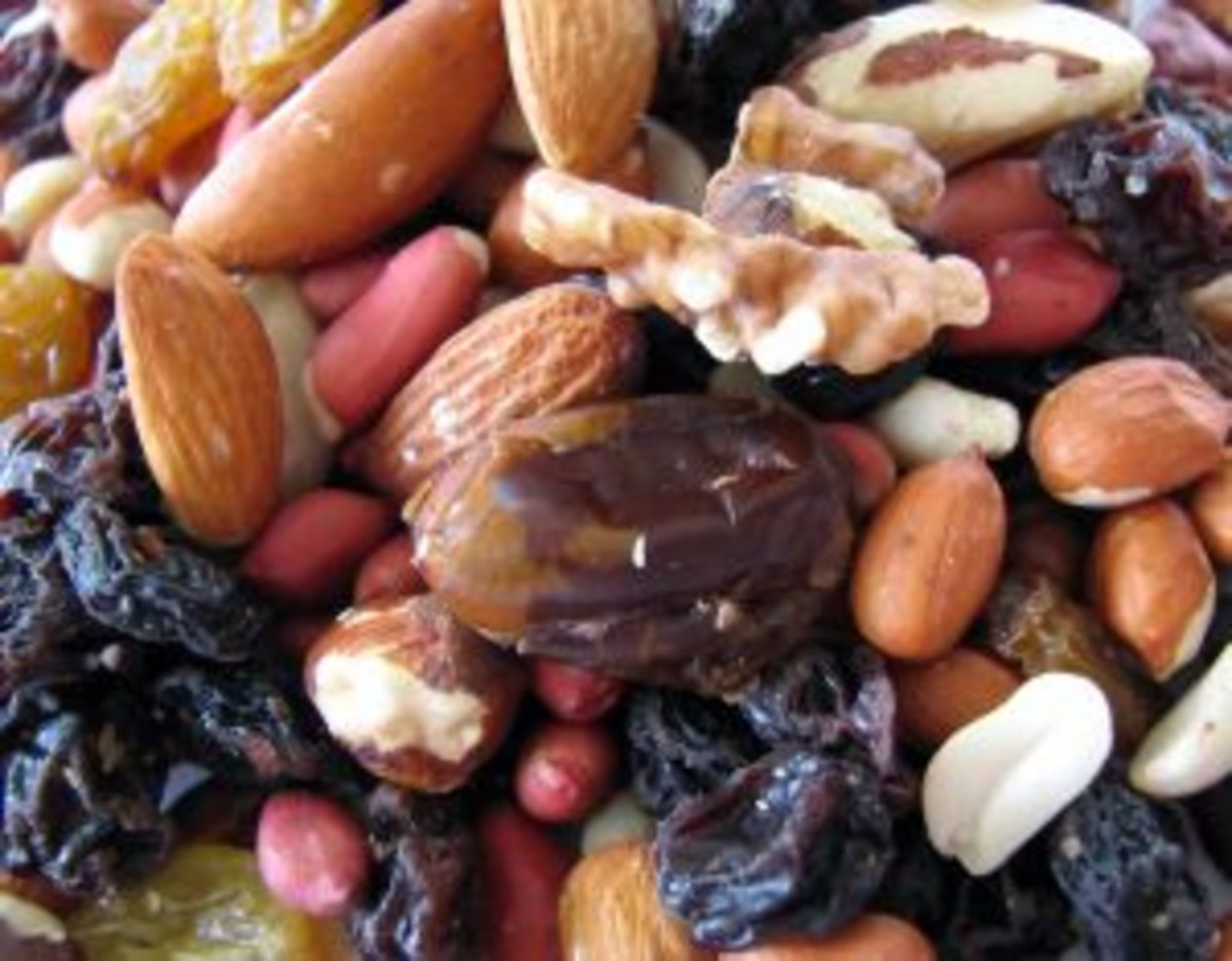 Add a handful of raisins or other dried fruit to trail mix to add a healthy boost of iron.