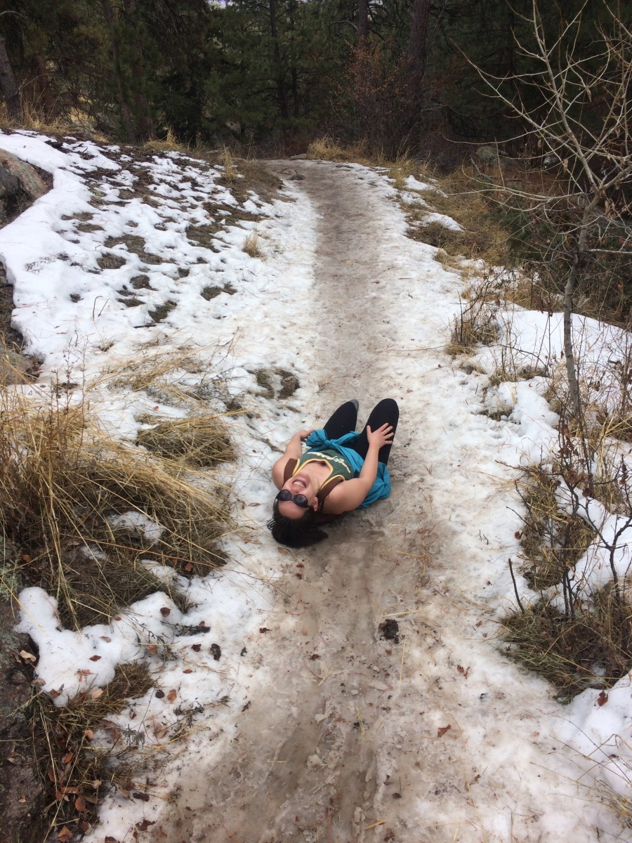 My friend Zoe and I forgot to check the trail conditions!