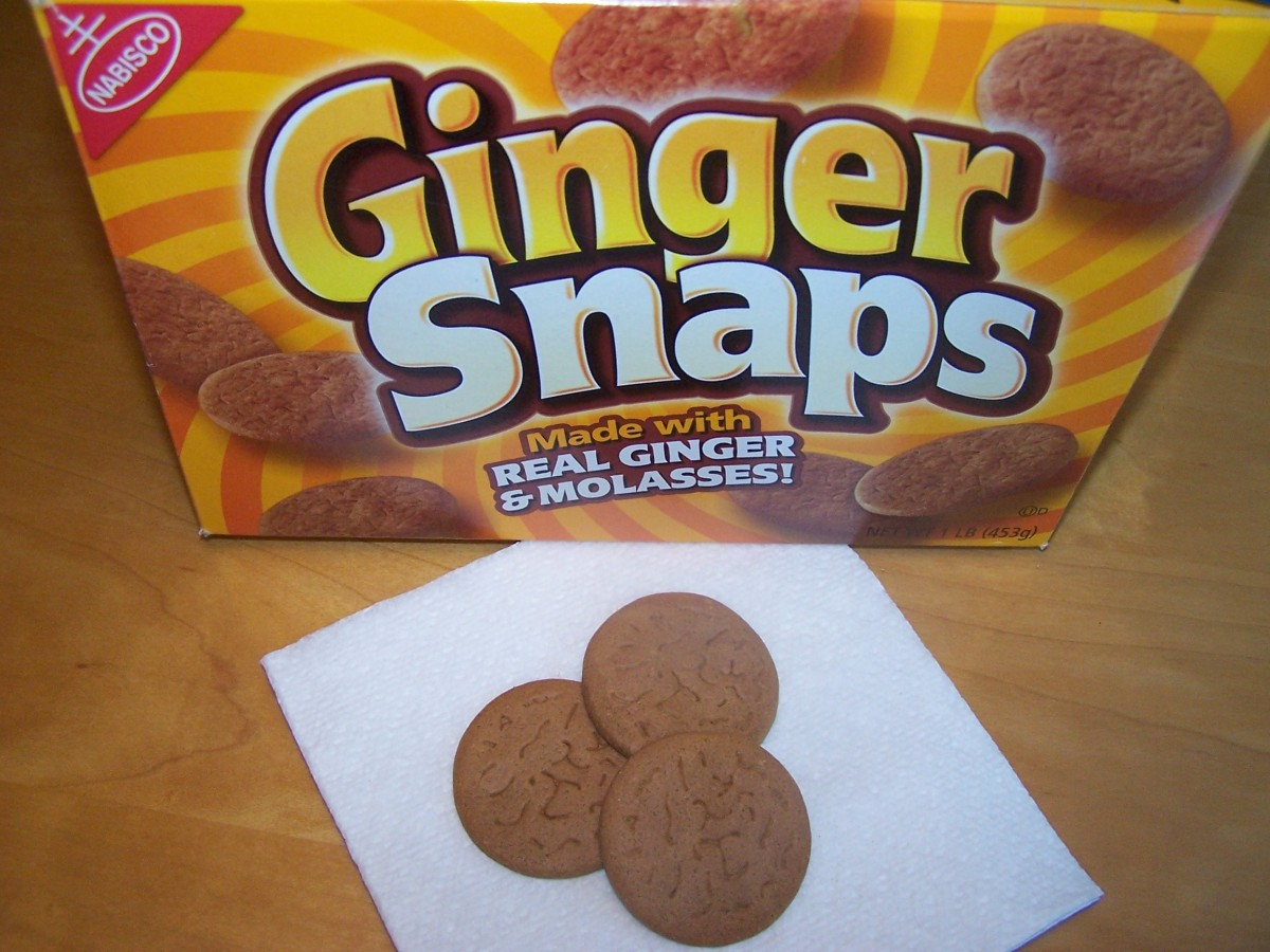 You can get some of the benefits of ginger by eating foods that contain real ginger such as Ginger Snaps or Gingerbread cookies. Just be sure to read the labels to make sure the food is made with real ginger and not ginger flavoring.