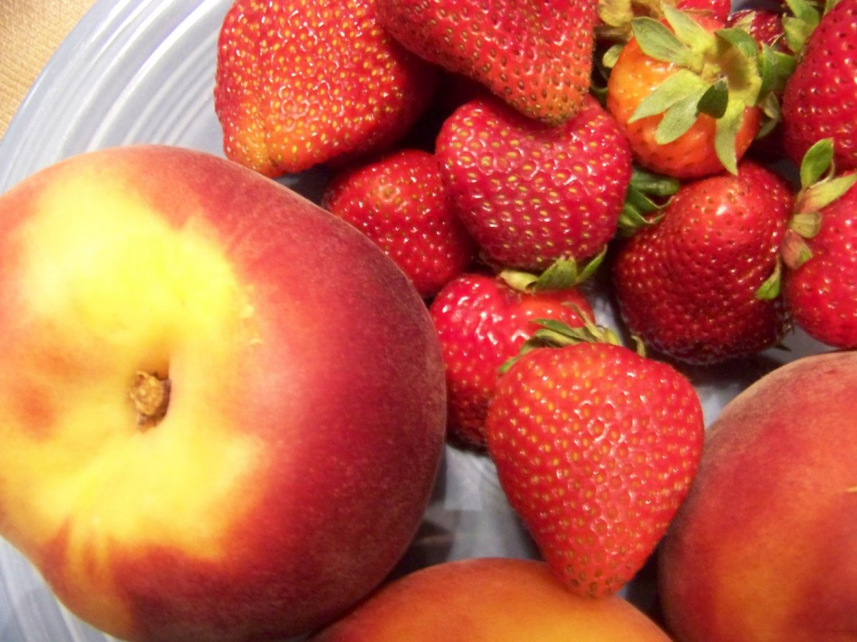 Strawberries and Peaches