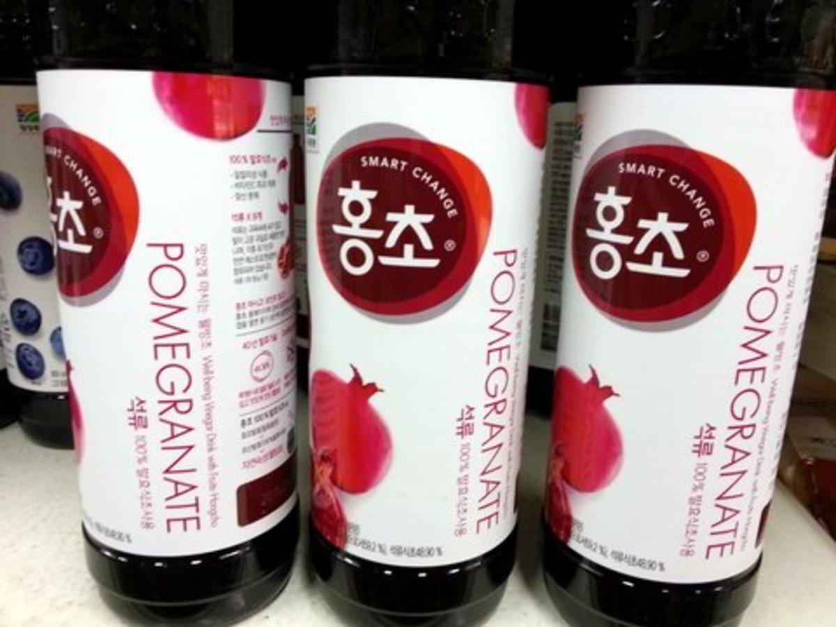 Koreans loved fruit vinegar and pomegranate vinegar is widely consumed in Korea