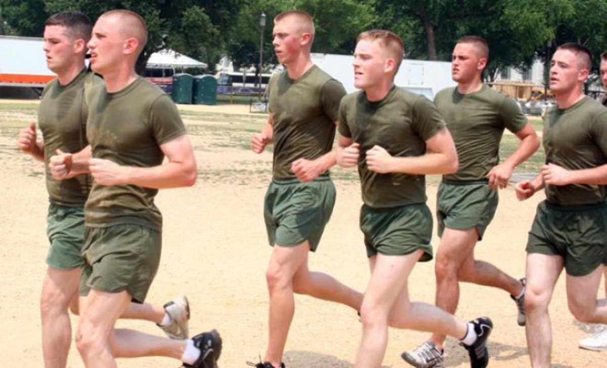 When training, make sure to run in similar conditions that you will experience in boot camp, such as: running on terrain, running in the heat, and long distance running.