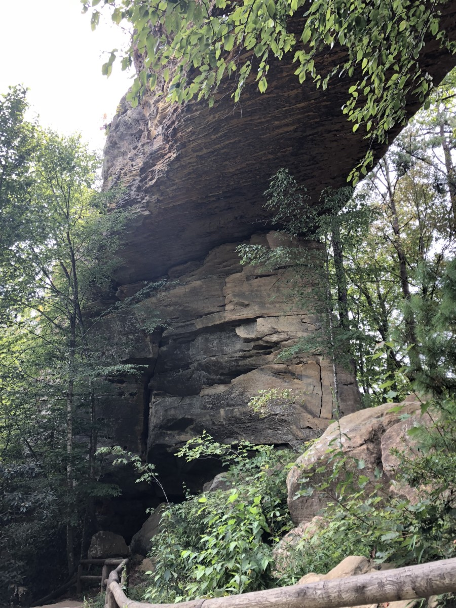 Part of the Natural Bridge.  It is so massive, it is hard to capture it all in a photo!