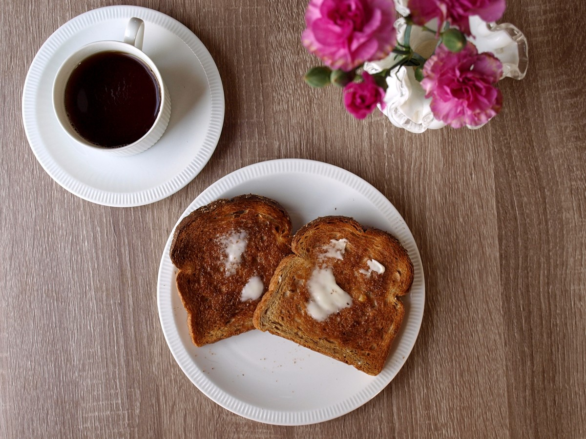 Some mornings I had toast and tea for breakfast.