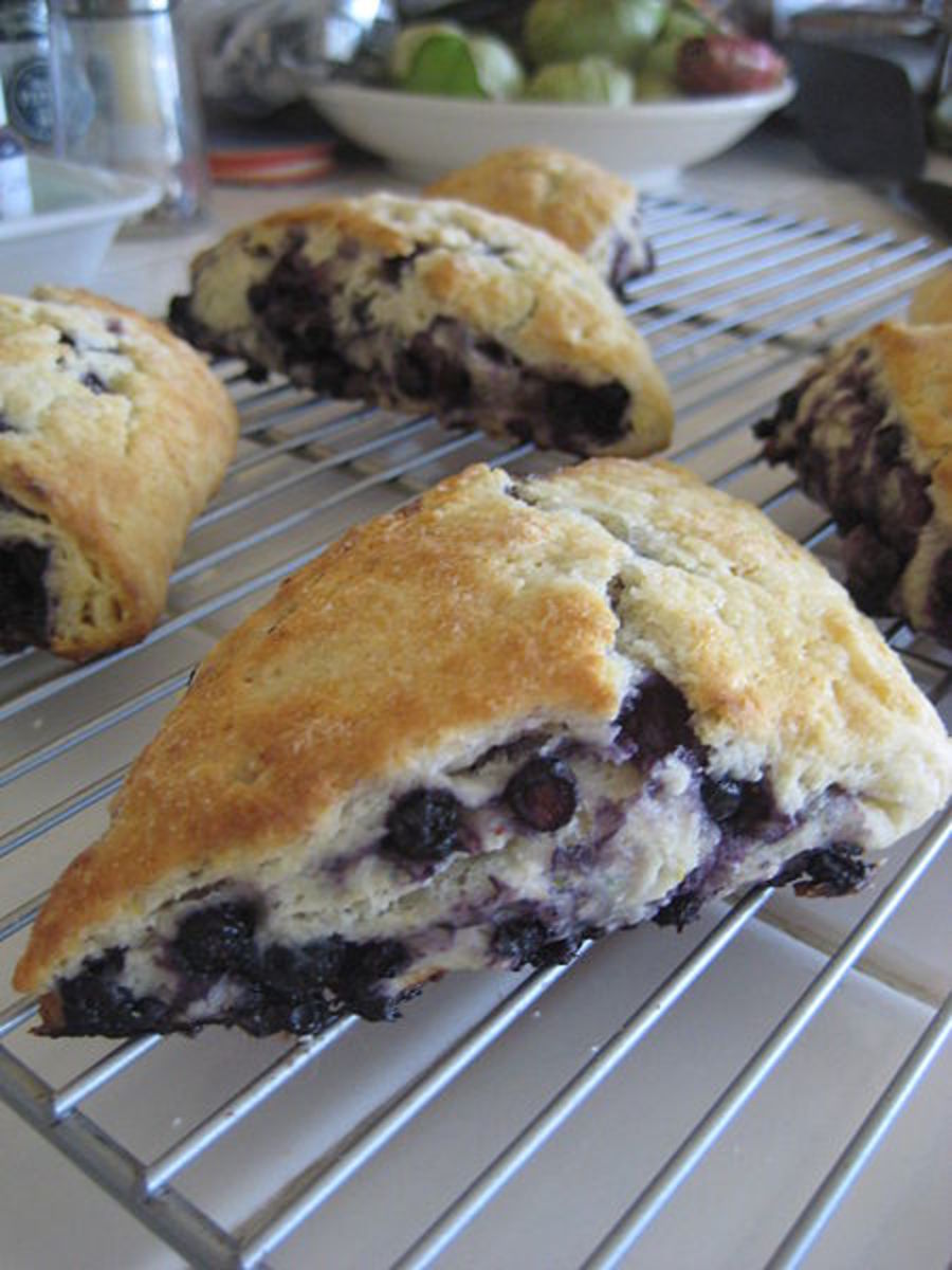 Blueberry scones.