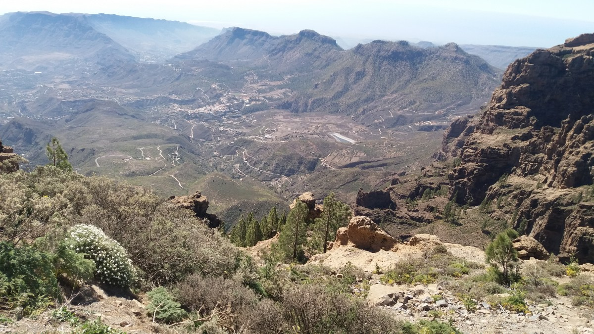 Pico de Las Nieves is the highest point on Gran Canaria at 1940 meters above sea level and a tough climb