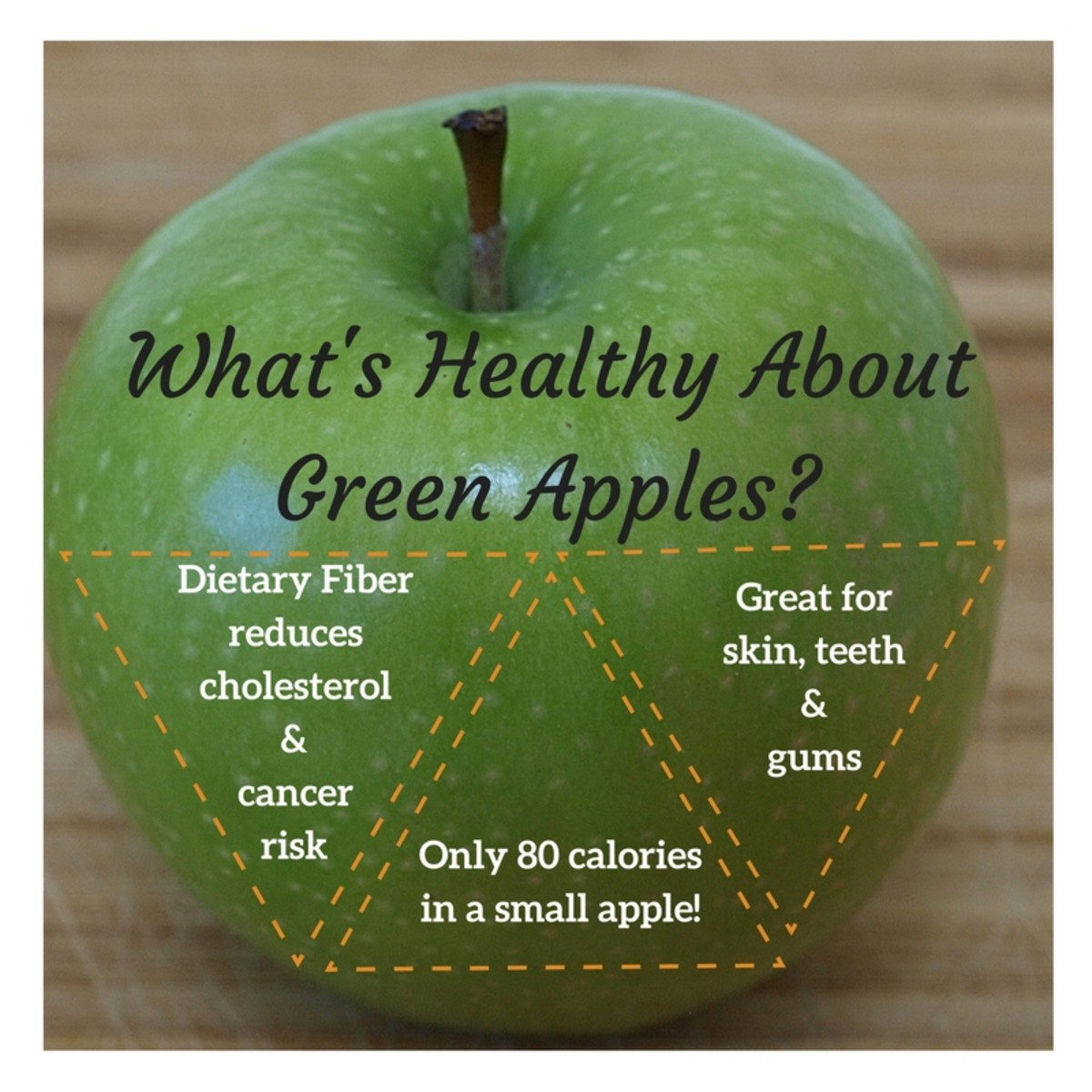 Studies show that green apples help prevent diseases, including cancer and Alzheimer's.