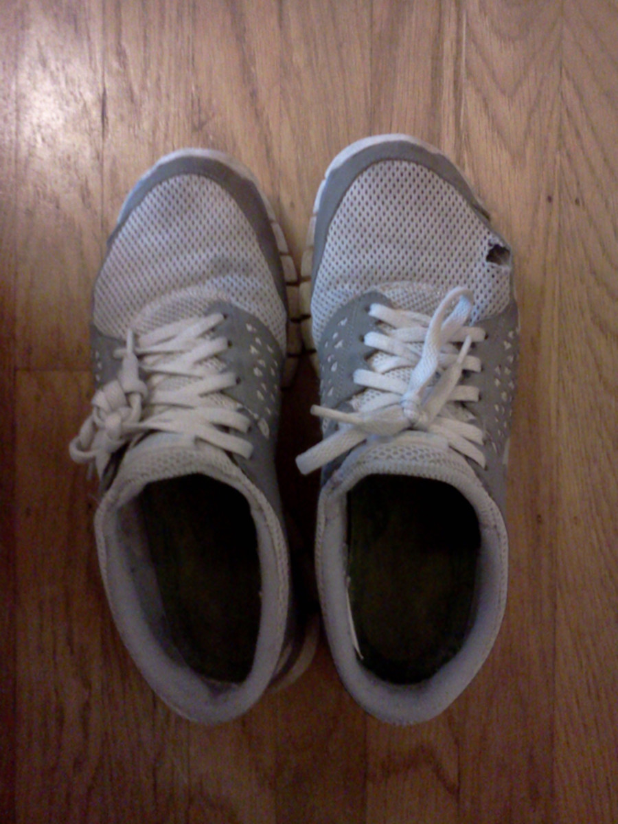 My trusty running shoes.