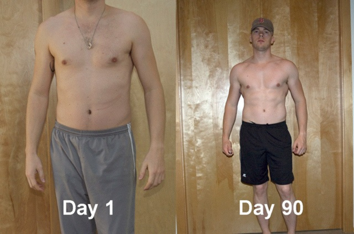 P90X results on day 90.