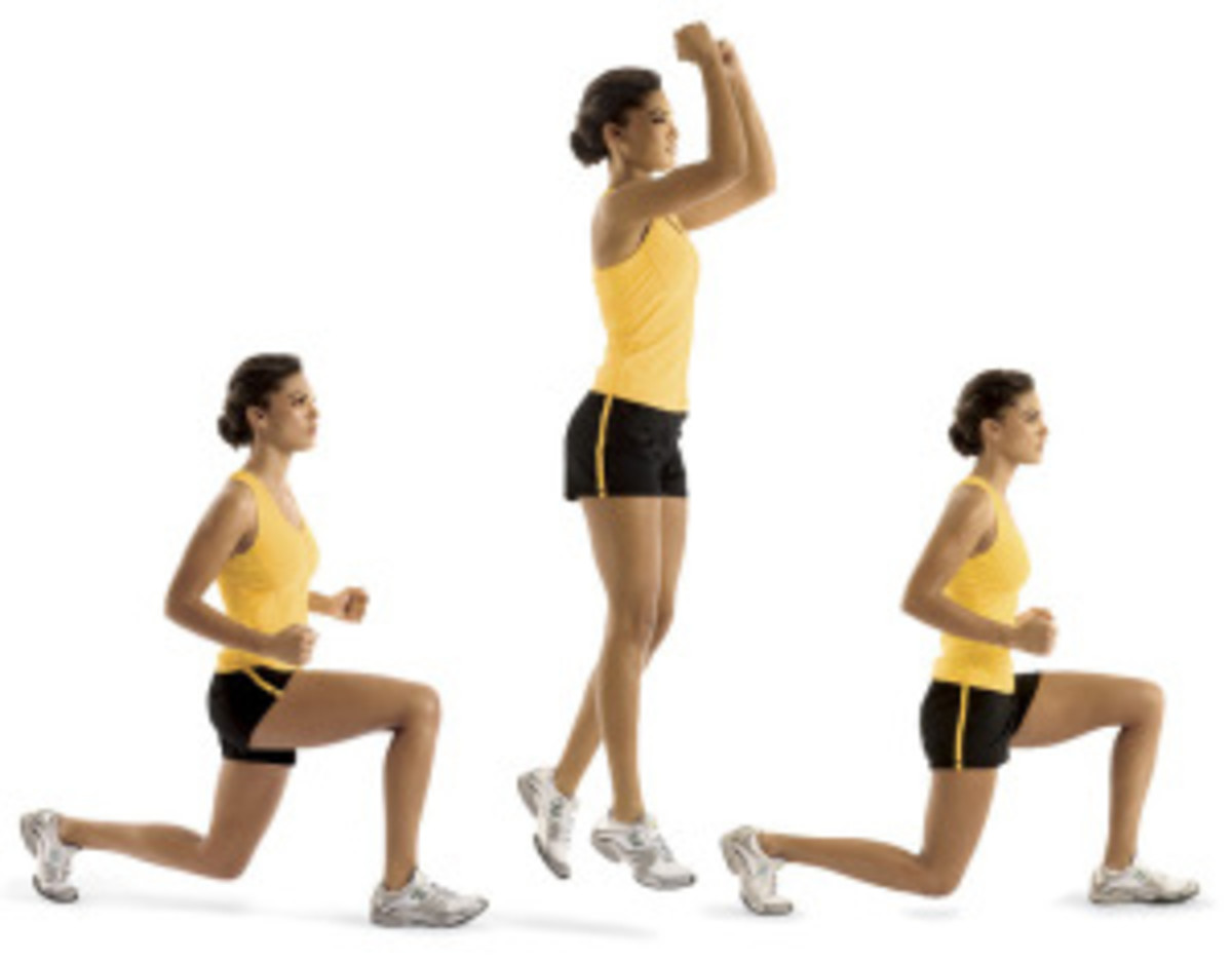 Lunge jumps, or split squat jumps, or Mary Katherine lunges: another challenging exercise to look forward to in Plyometrics.