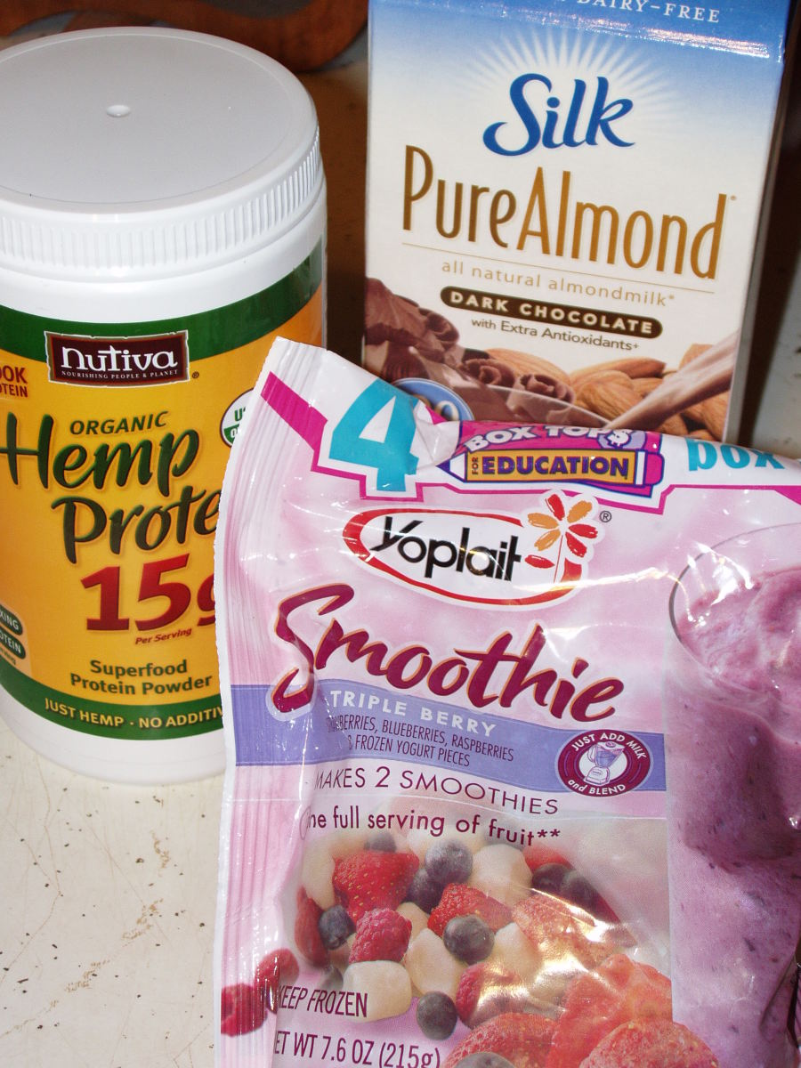 "Chocolate almond milk is the ""secret ingredient"" in my smoothies that really makes them oh so yummy!"