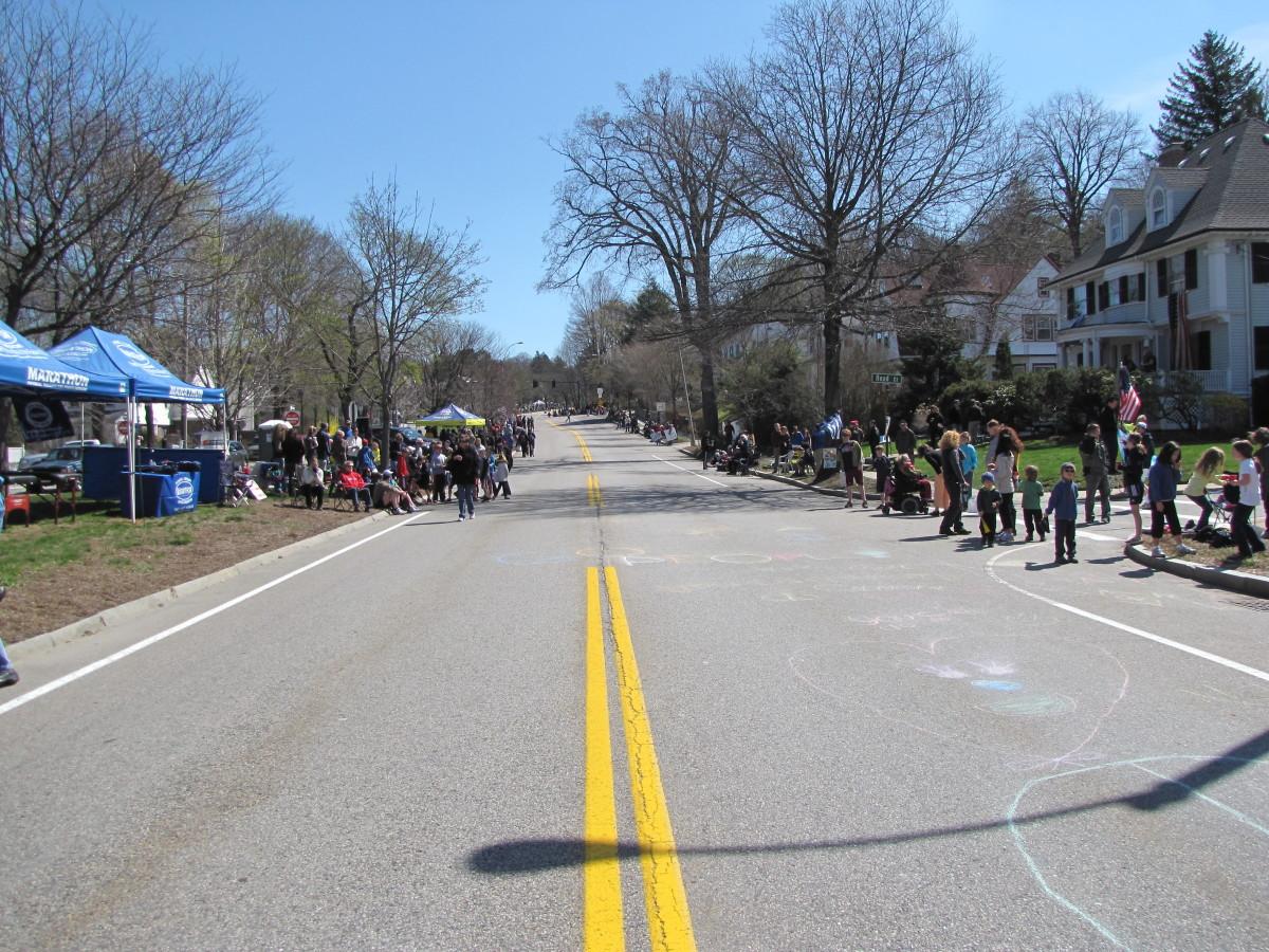 The course looking toward heartbreak hill.