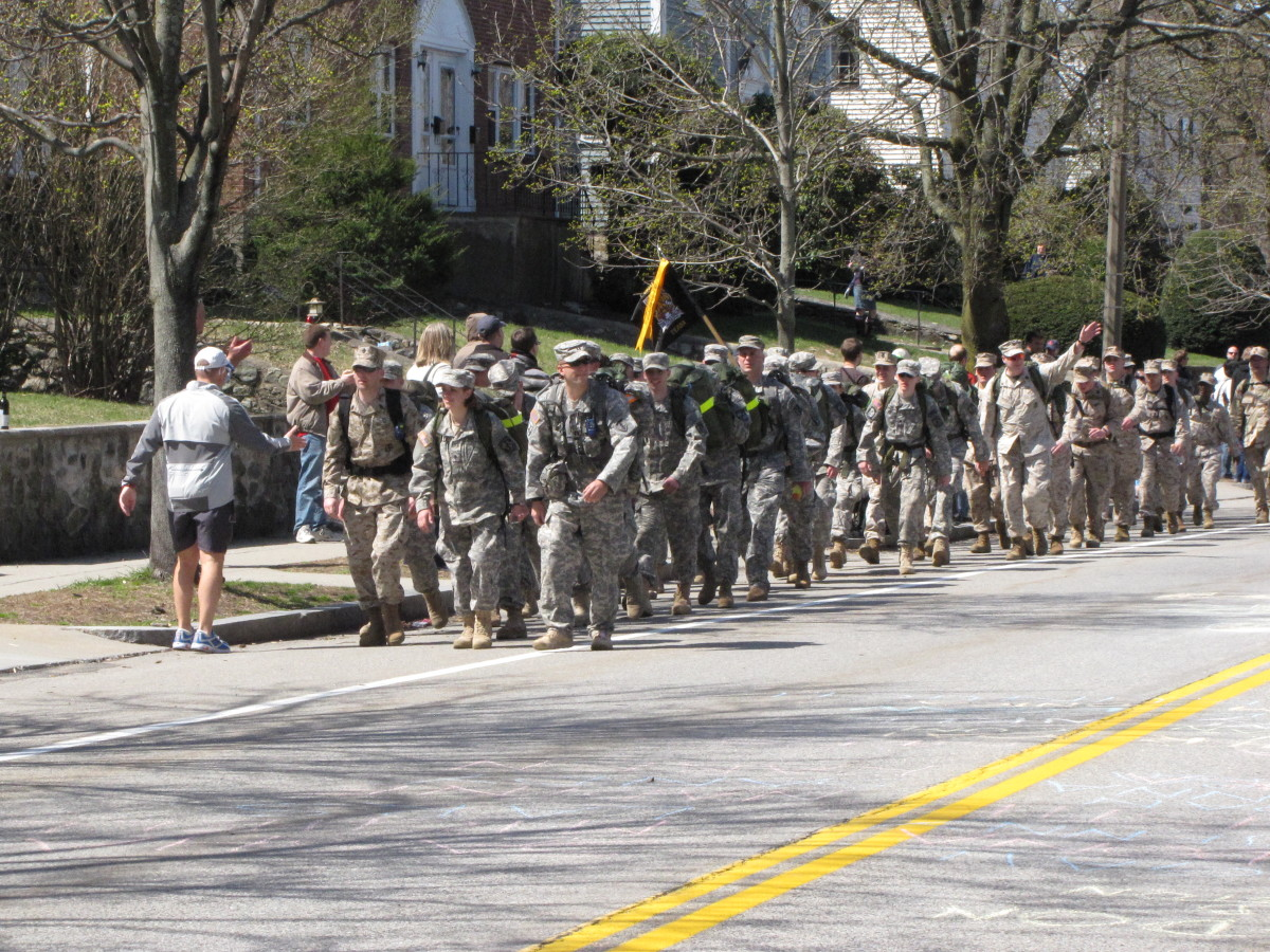 How about these guys and gals marching the entire 26.2 miles with full packs.