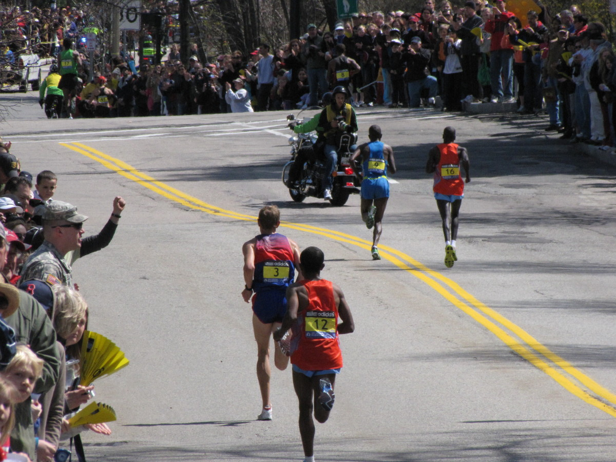 Number 3 is American Ryan Hall who came in 4th overall in 2:04:58.