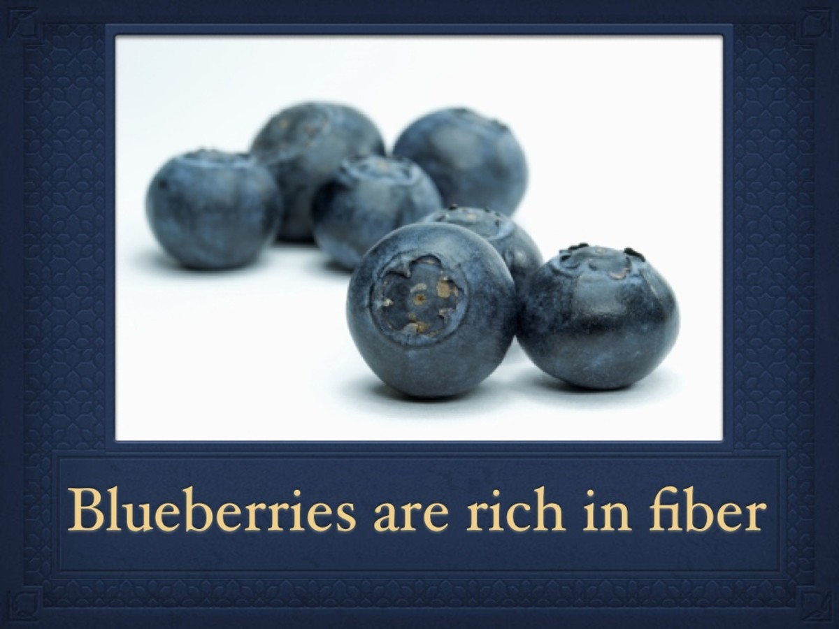 Blueberries are a great source of fiber. Fiber promotes a healthy digestive system and helps keep you feeling full.