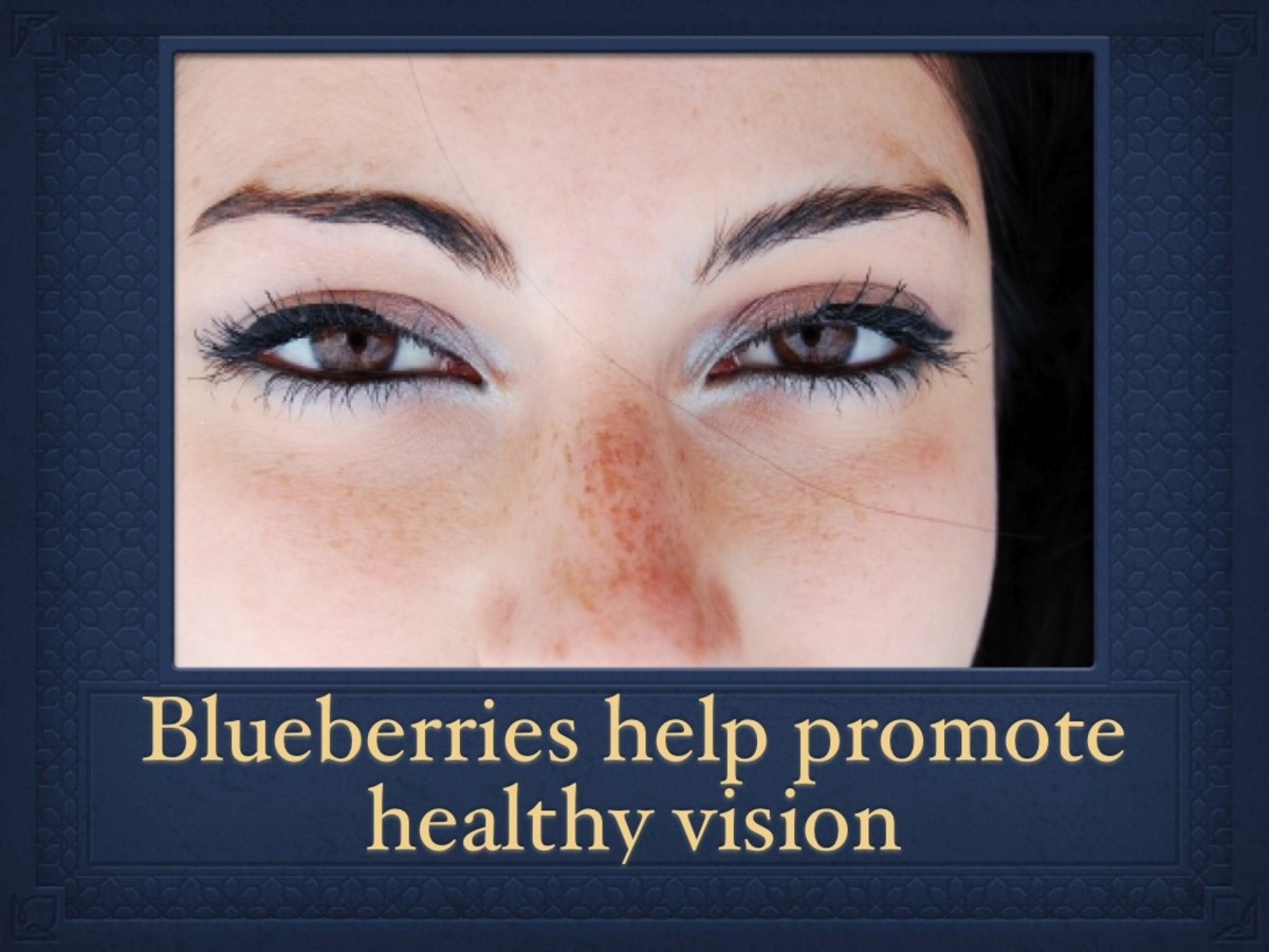 Ocular health can be maintained by adding blueberries to your diet.