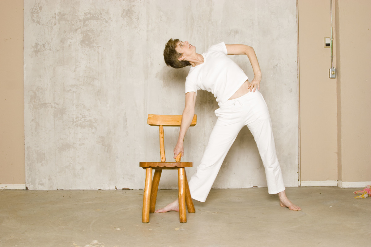 Standing Triangle Supported on Chair