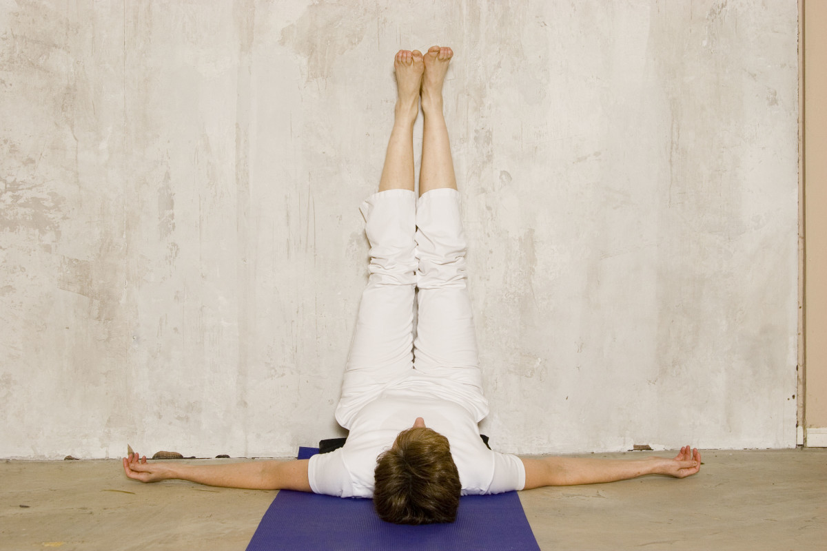 Legs up the Wall reverses the effect of gravity and boosts immunity.