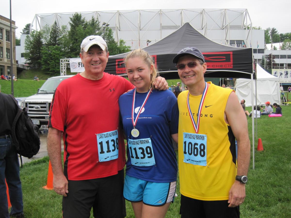 The gang after the Lake Placid half marathon.