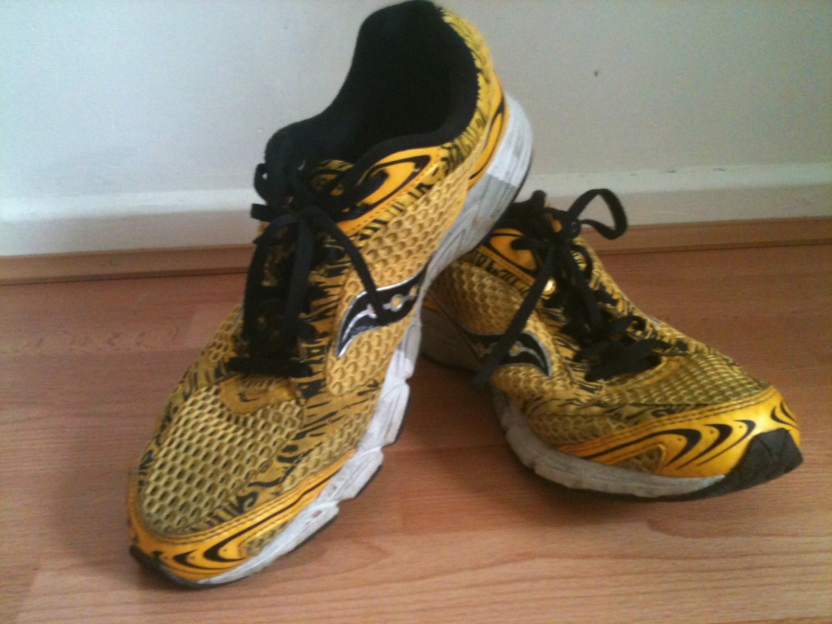 A lightweight and fast paced running shoe like these Saucony Fasttwitch may not suit a beginner due to a lack of cushioning