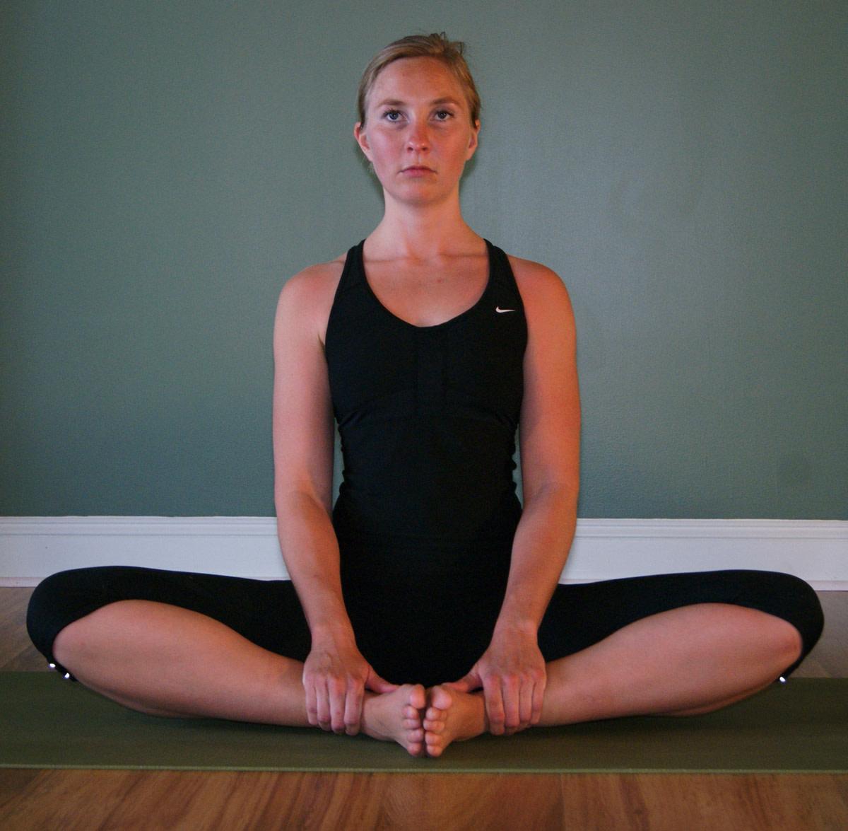 Baddha konasana - bound angle pose.