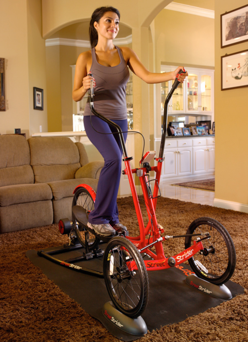 The tricycle package is not the most popular option at the elliptical dealership.