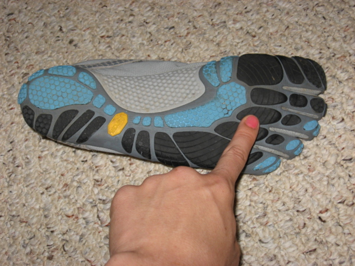 This is the ball of your foot, the spot that should hit the ground first when you are running.