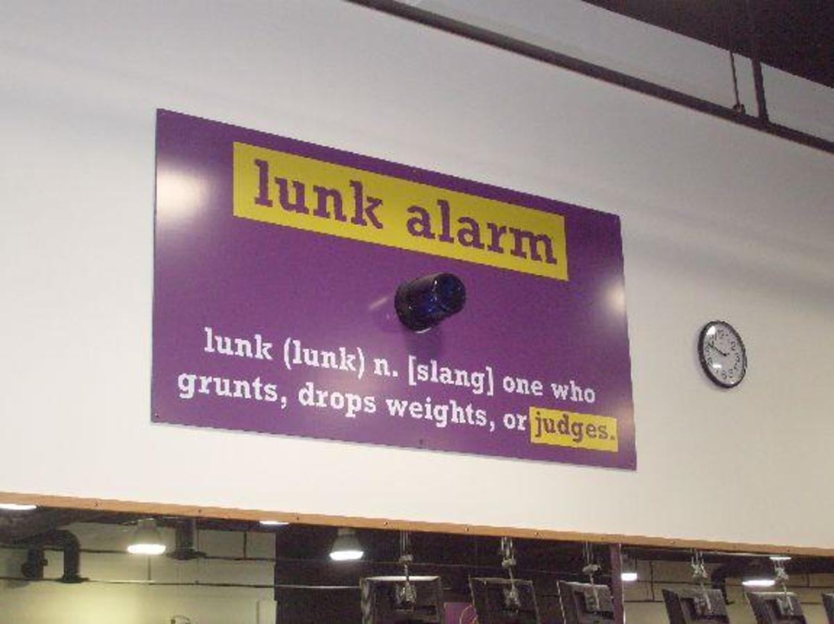 The lunk alarm.