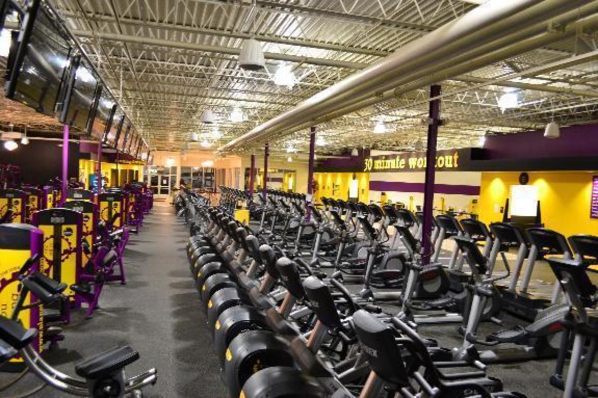 The cardio deck in the Kalamazoo, Michigan Planet Fitness.