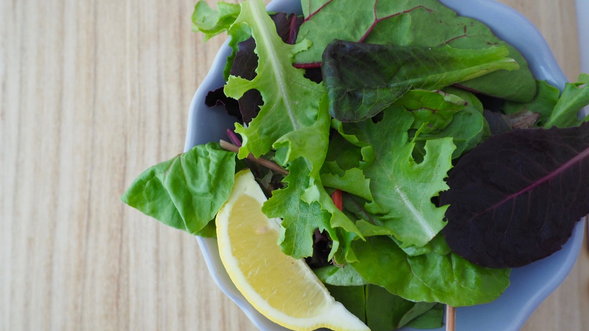 Skip the sauces and creamy dressings. A squeeze of lemon on salad is a healthier choice.