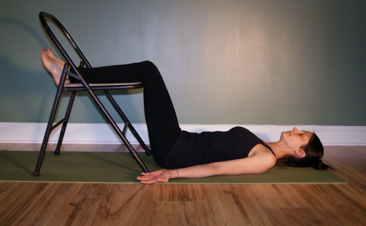 Savasana with Legs on a Chair - Useful for Back Injuries