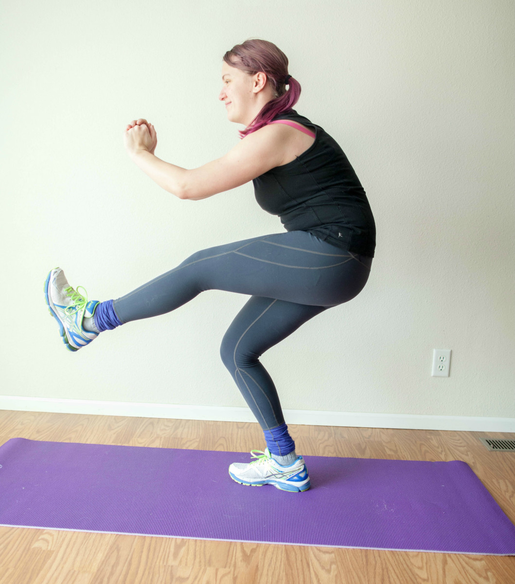 Pistol squats are challenging, but worth the effort!