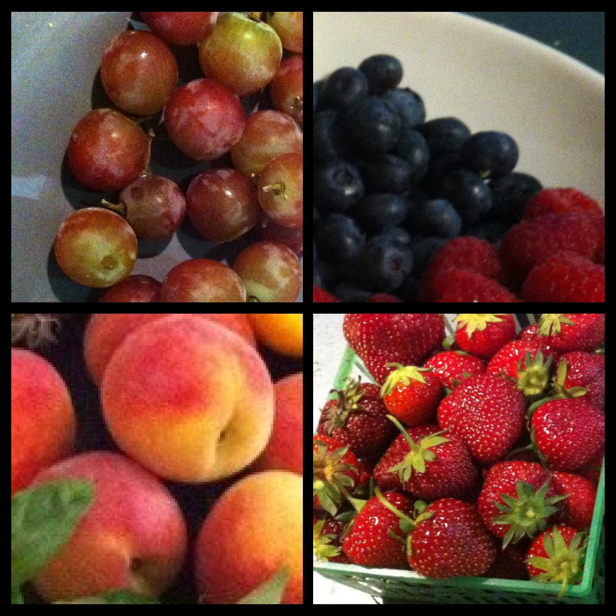 Fruit is part of a healthy breakfast.