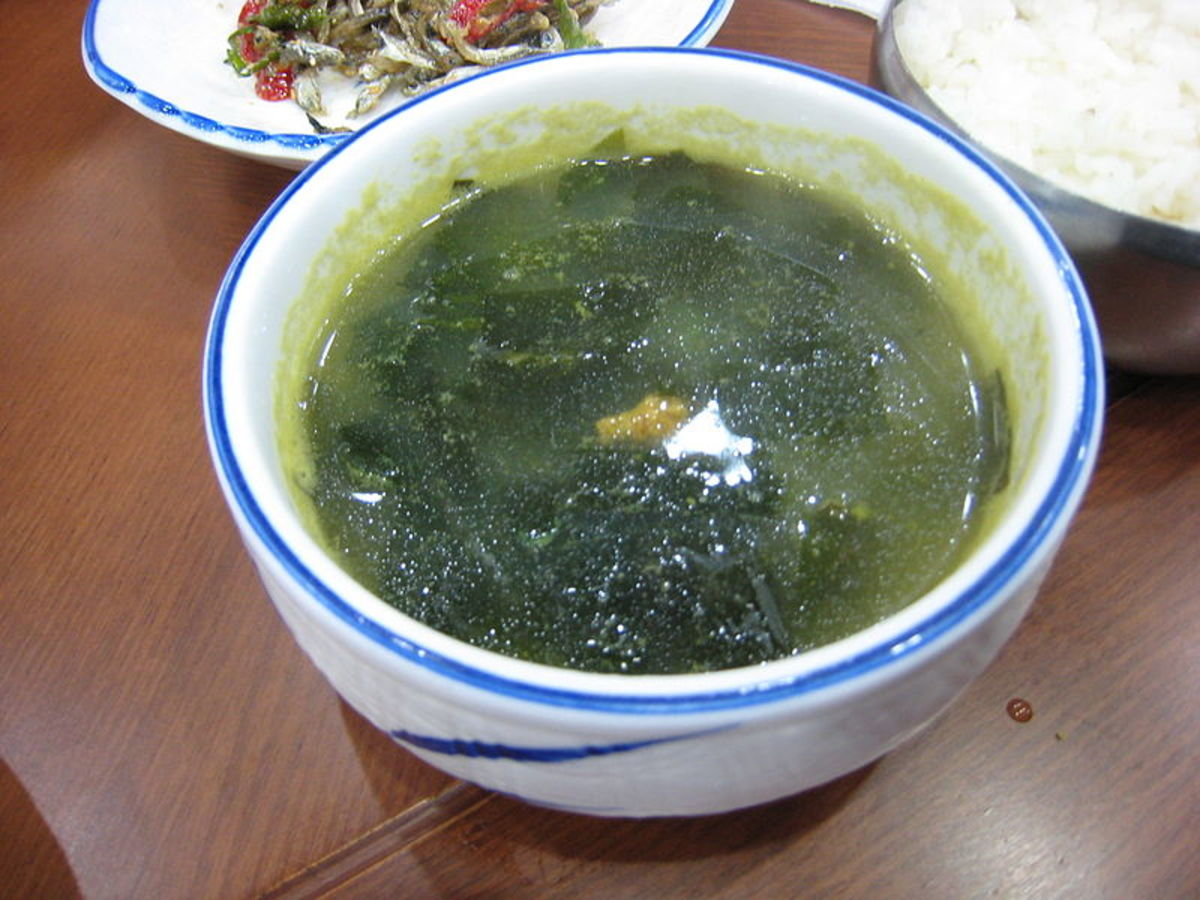 Seaweed with Sea Urchin Soup from Korea