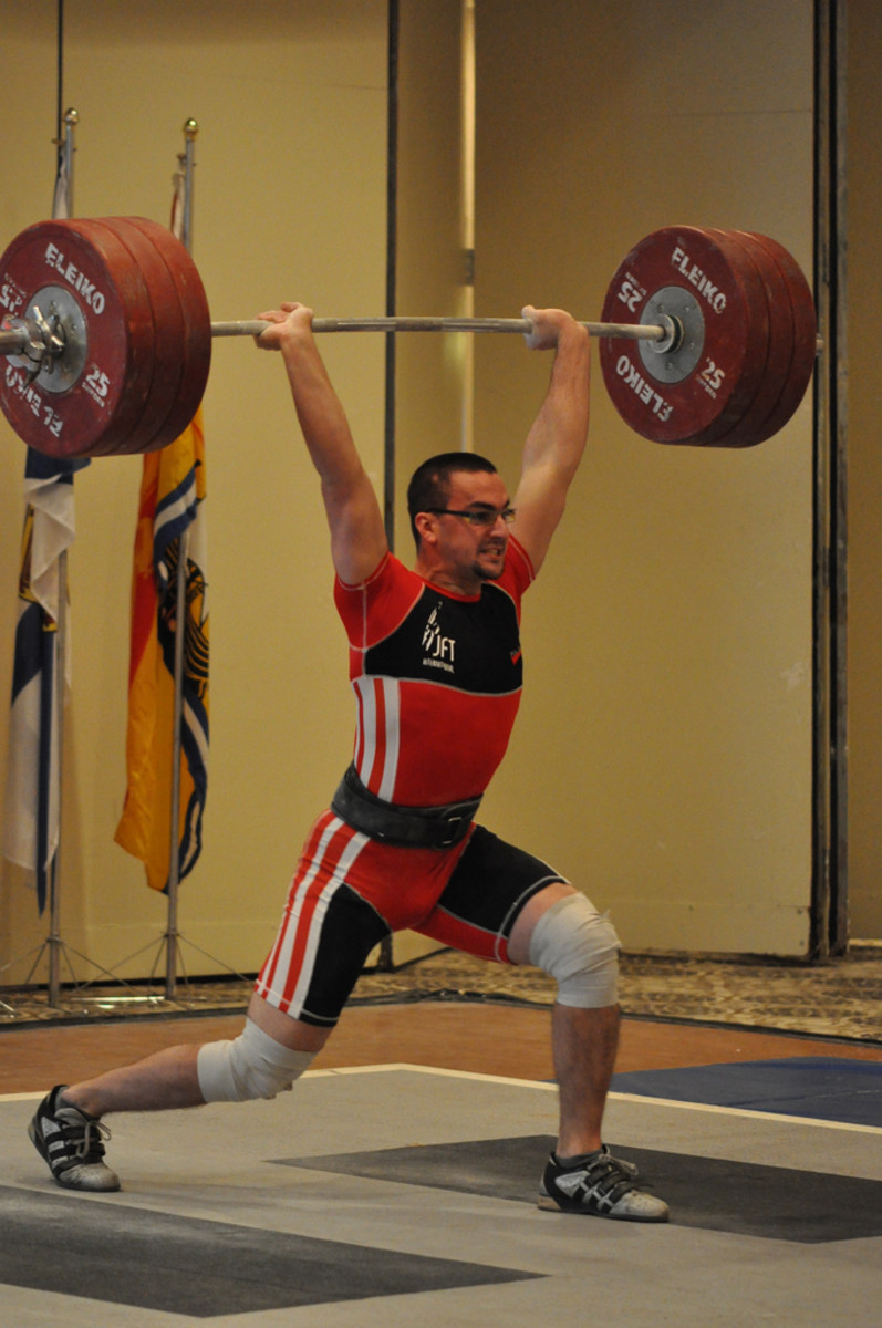 The Jerk part of the Clean & Jerk.