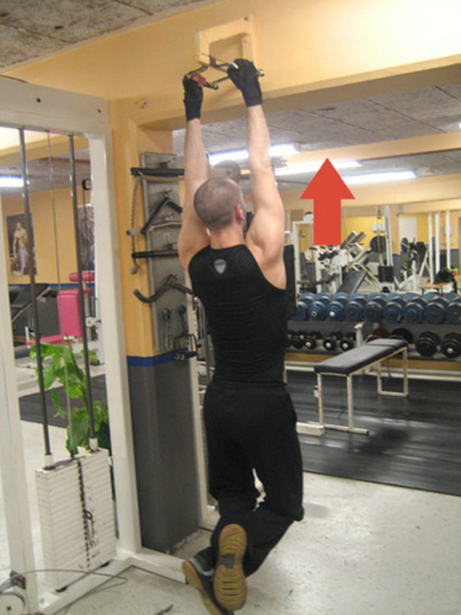Pull ups are a great compound lift that will give much better results than hours of bicep curls. Try not to cheat - pull yourself up under control, don't use your own momentum
