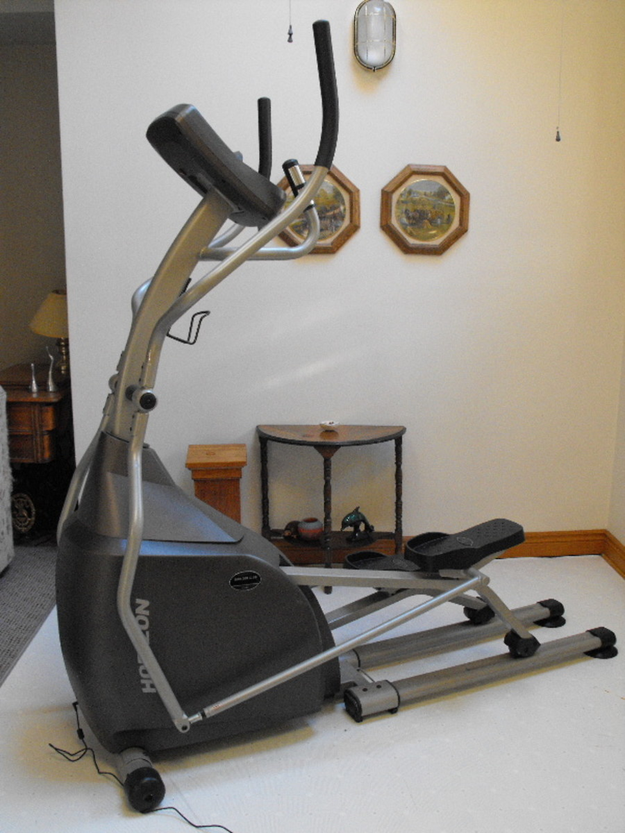 Elliptical trainer I run on while I watch TV.