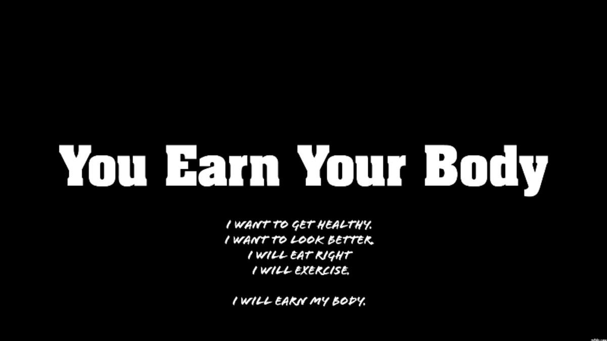 Motivational Exercise Poster black and white